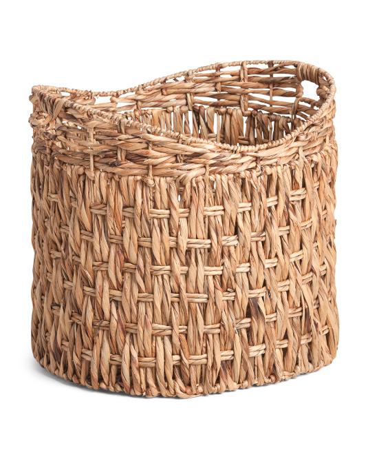 RGI HOME Xl Twisted Water Hyacinth Oval Basket $29.99