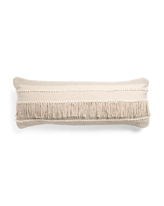 LR RESOURCES 14x36 Textured Fringe Pillow $24.99