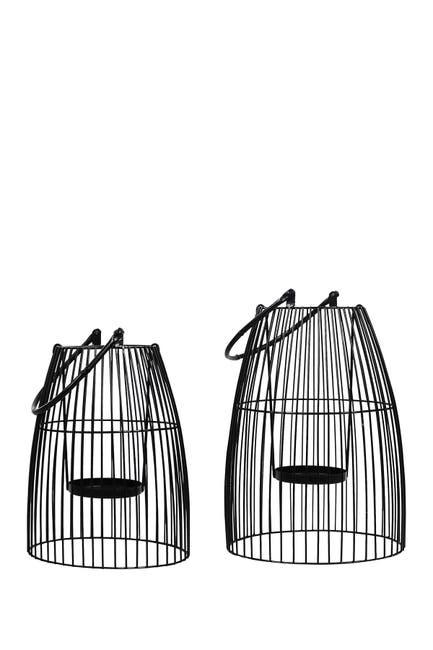 Stratton Home Black Metal Lanterns - Set of 2 $49.97