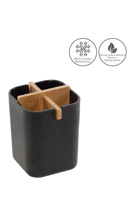 Moda At Home Multifunctional Bamboo Storage Container $9.97