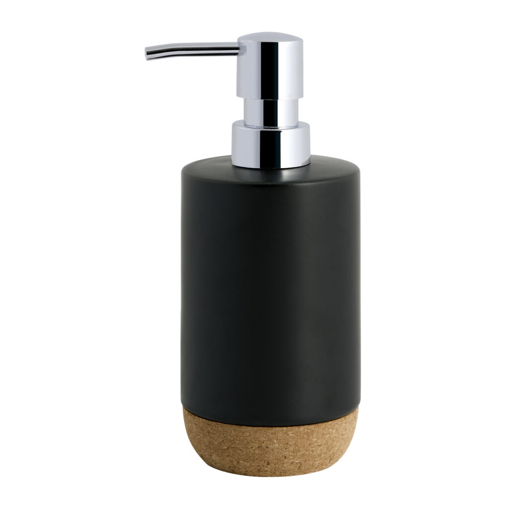Better Homes & Gardens Matte Black & Cork Lotion Pump $12.97 https://fave.co/3uq0Itb