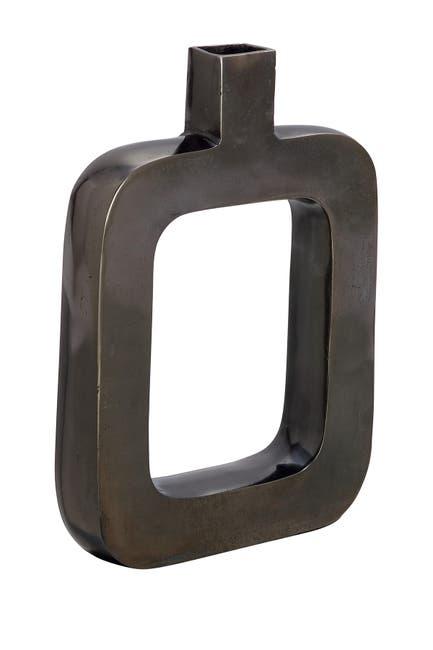 Willow Row Black Aluminum Contemporary Vase $54.97