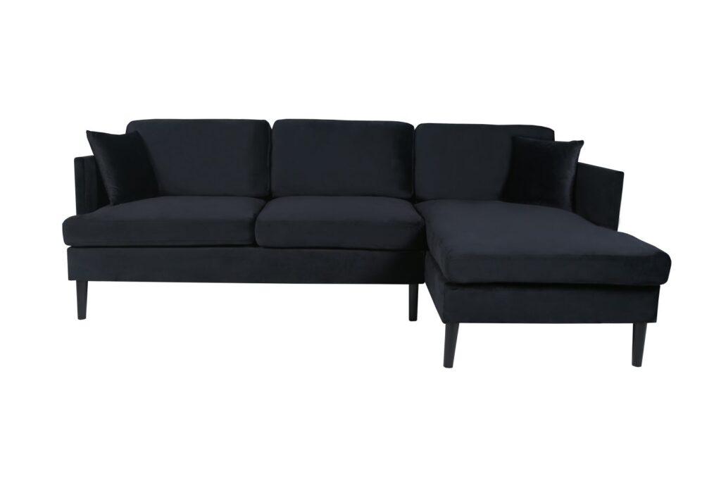L-shape Sectional Sofa Velvet Right Hand Facing $779.99