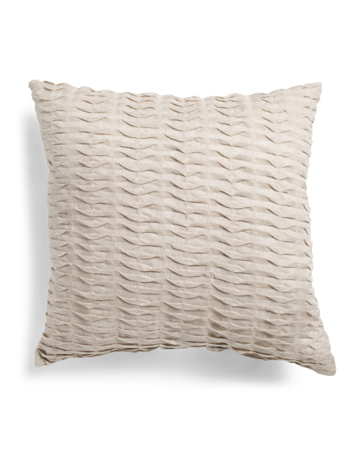 CANAAN Made In Usa 22x22 Pleated Linen Pillow $24.99