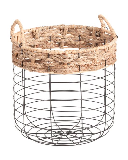 VIETNAM STORAGE Small Round Metal Braid Top Basket $16.99