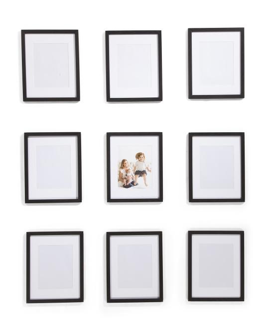 ENCHANTE Set Of 9 8x10 Matted Portrait Frames $79.99