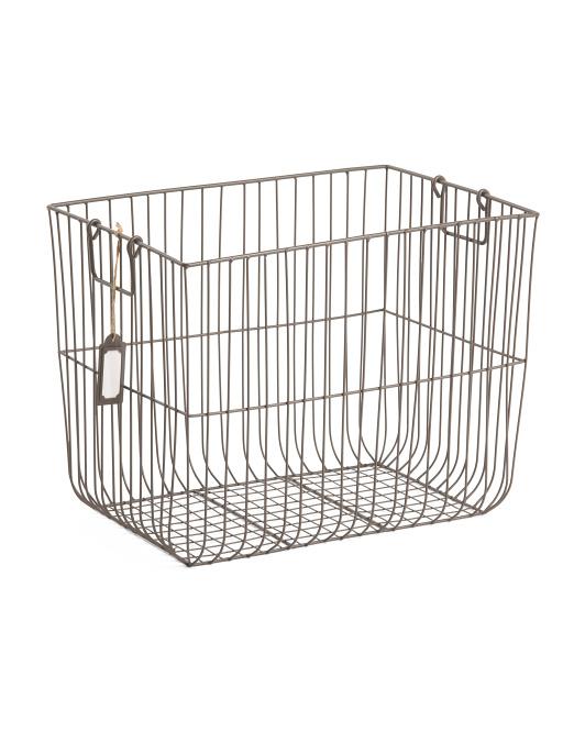 RGI Large Vertical Weave Metal Desk Top Basket $19.99