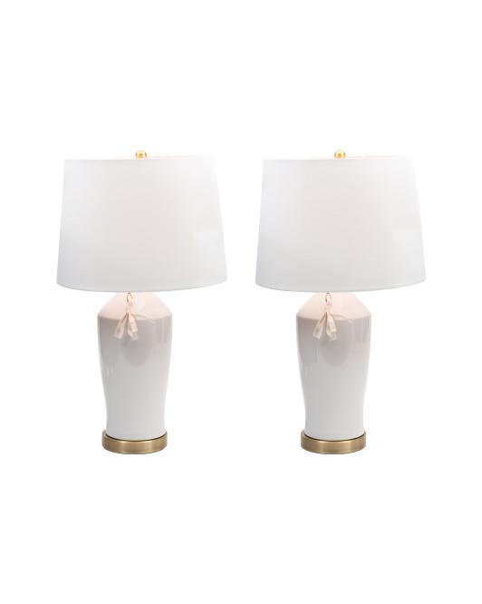 JIMCO Set Of 2 Ceramic Lamps With Tassel $79.99