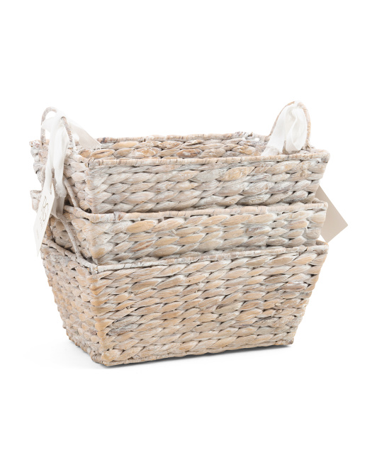 RGI HOME Set Of 3 Rice Nut Weave Baskets $19.99