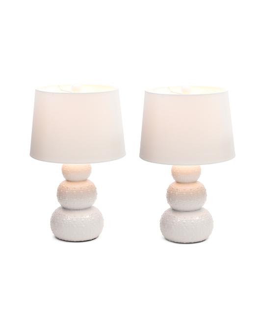 JIMCO Set Of 2 Urchin Ceramic Lamps $79.99