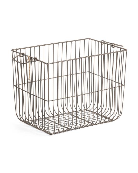 RGI Small Vertical Weave Metal Desk Top Basket $14.99