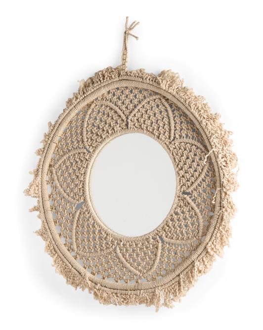 BREWSTER Nishka Macrame With Mirror Accent $39.99