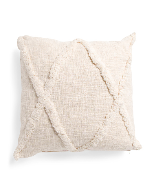 LR RESOURCES 20x20 Tufted Linen Look Textured Pillow $19.99