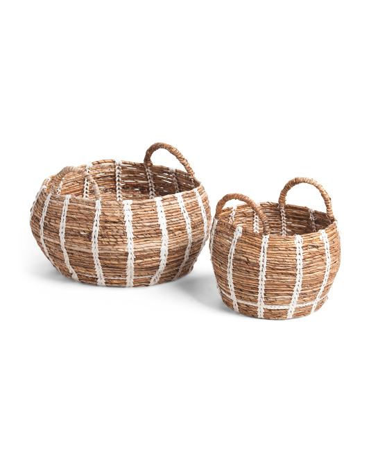 HANDCRAFTED IN VIETNAM Belly Banana Basket With Thread Collection $19.99 — $29.99