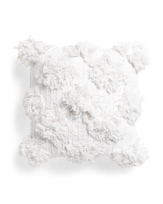 THRO 18x18 Textured Dot Pillow $16.99