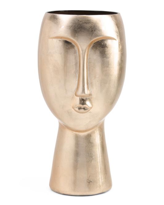 THREE HANDS Ceramic Face Vase $59.99