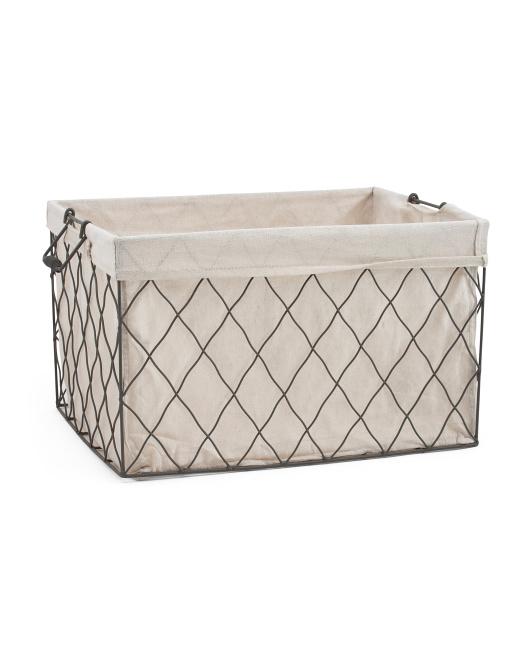 RGI Medium Linen Fold Over Desk Top Basket $19.99