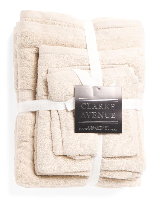 CLARK AVENUE 6pc Zero Twist Towel Set $29.99