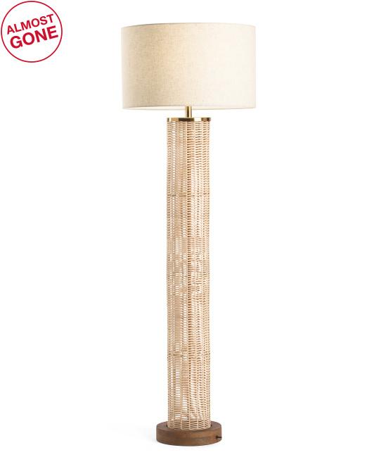 HANDCRAFTED IN INDIA Rattan Floor Lamp $199.99