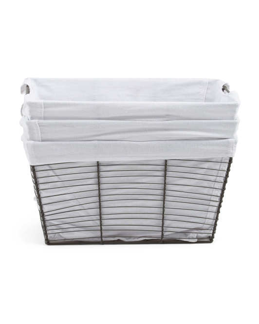 RGI Industrial 3pc Set Metal Desk Top Baskets $24.99