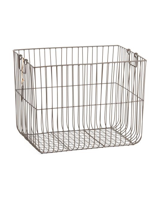 RGI Medium Vertical Weave Metal Desk Top Basket $16.99