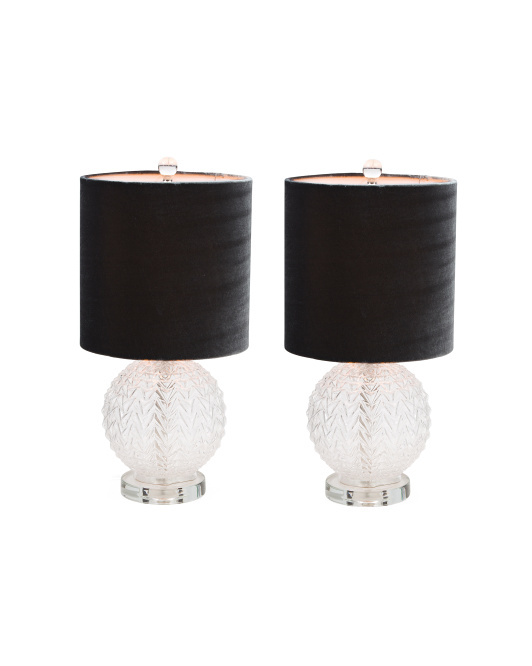 J HUNT HOME Set Of 2 Textured Glass Lamps $79.99