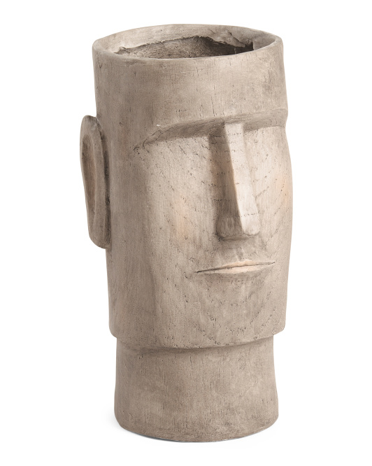 SAGEBROOK HOME 24in Resin Face Planter $39.99