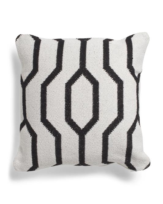 LR RESOURCES 20x20 Textured Geo Pillow $16.99