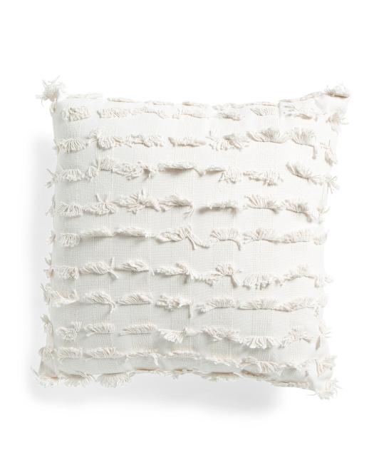 HOME ESSENTIALS & BEYOND 20x20 Fringe Textured Pillow $16.99