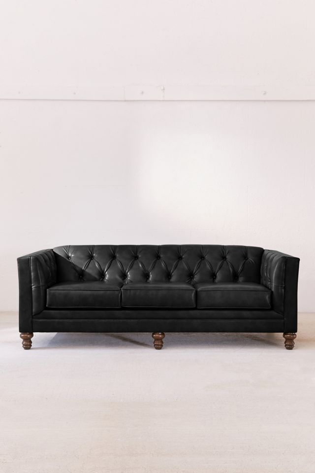 Graham Recycled Leather Sofa $1,399.00