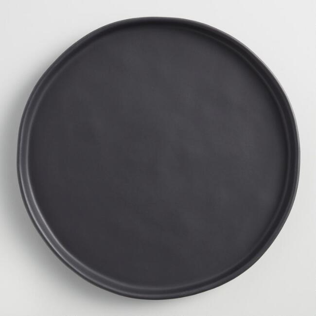 Black Organic Rimmed Salad Plates Set Of 6 $47.94