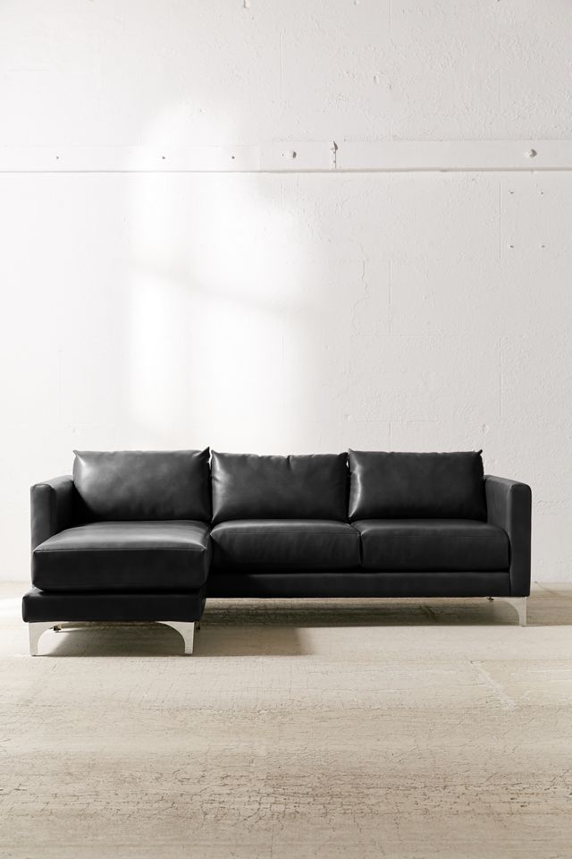 Chamberlin Recycled Leather Sectional Sofa $1,099.00