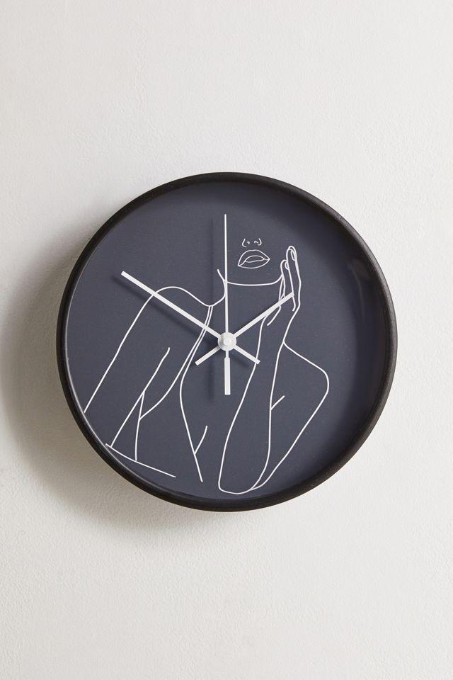 Line Art Woman Wall Clock $39.00