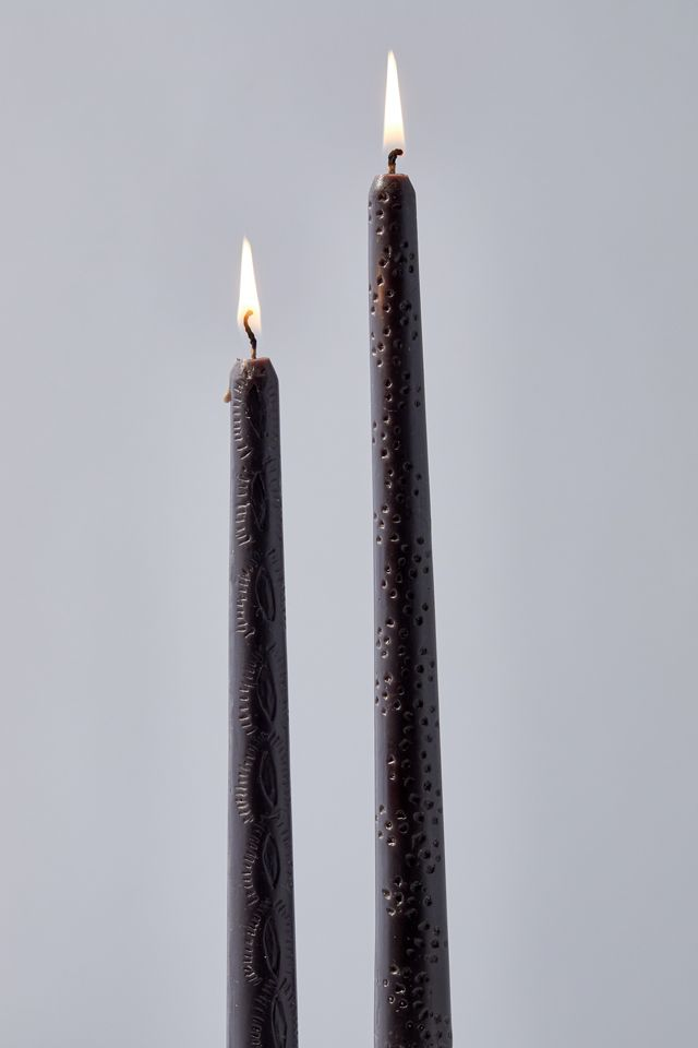 Carved Taper Candle Set $10.00