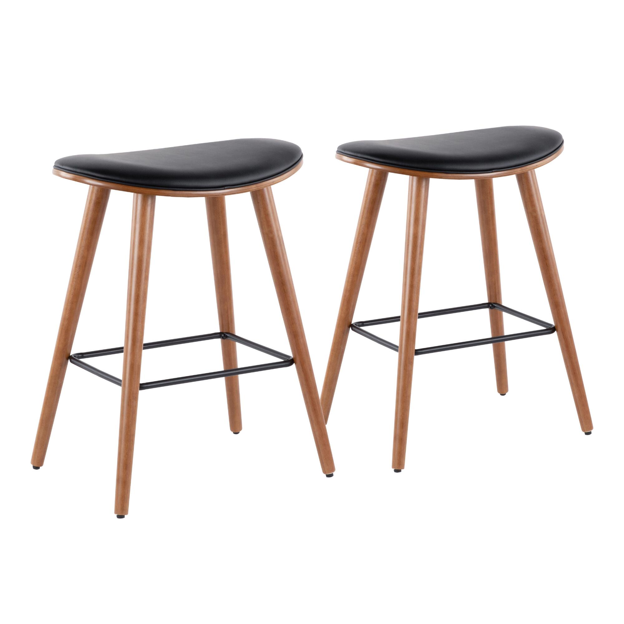 Faux Leather Luna Upholstered Counter Stools Set Of 2 $399.99