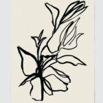Flora Art Print in Noir $38.00