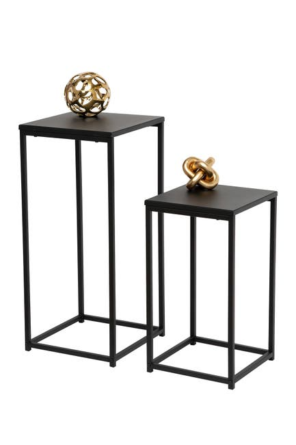 Honey-Can-Do Square Black Side Tables - Set of 2 $66.97