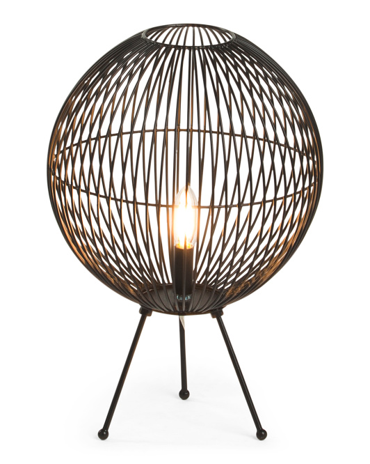 HANDCRAFTED IN INDIA 21in Round Metal Uplight $39.99