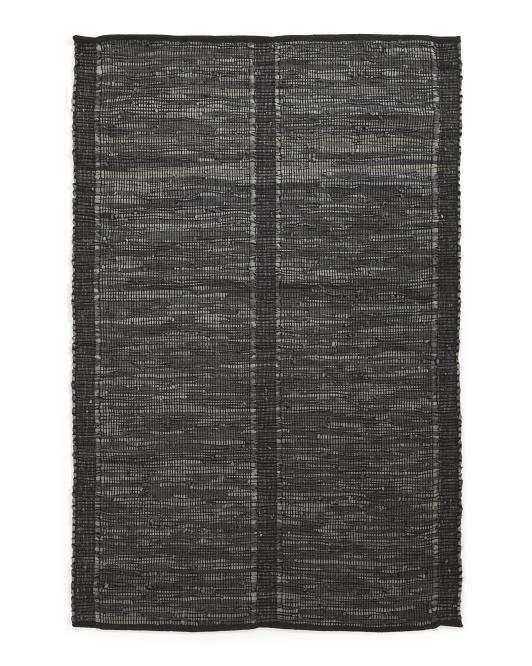 LEMIEUX ET CIE Leather Hand Woven Area Rug $129.99 — $249.99