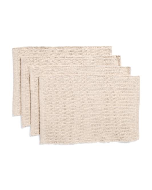 MADISON 4pk Woven Cotton Placemats $12.99