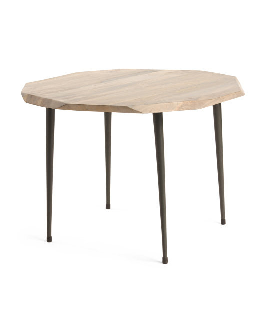 HANDCRAFTED IN INDIA Large Wood Table $79.99