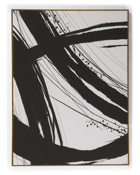 COLLEEN KARIS DESIGNS 30x40 Black Loops Abstract Wall Art $59.99