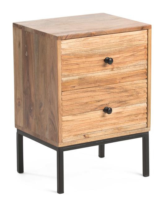 SAGEBROOK HOME 2 Drawer Side Table $99.99