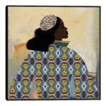 Girlie With Gold By Nikki Chu Framed Canvas Wall Art $79.99
