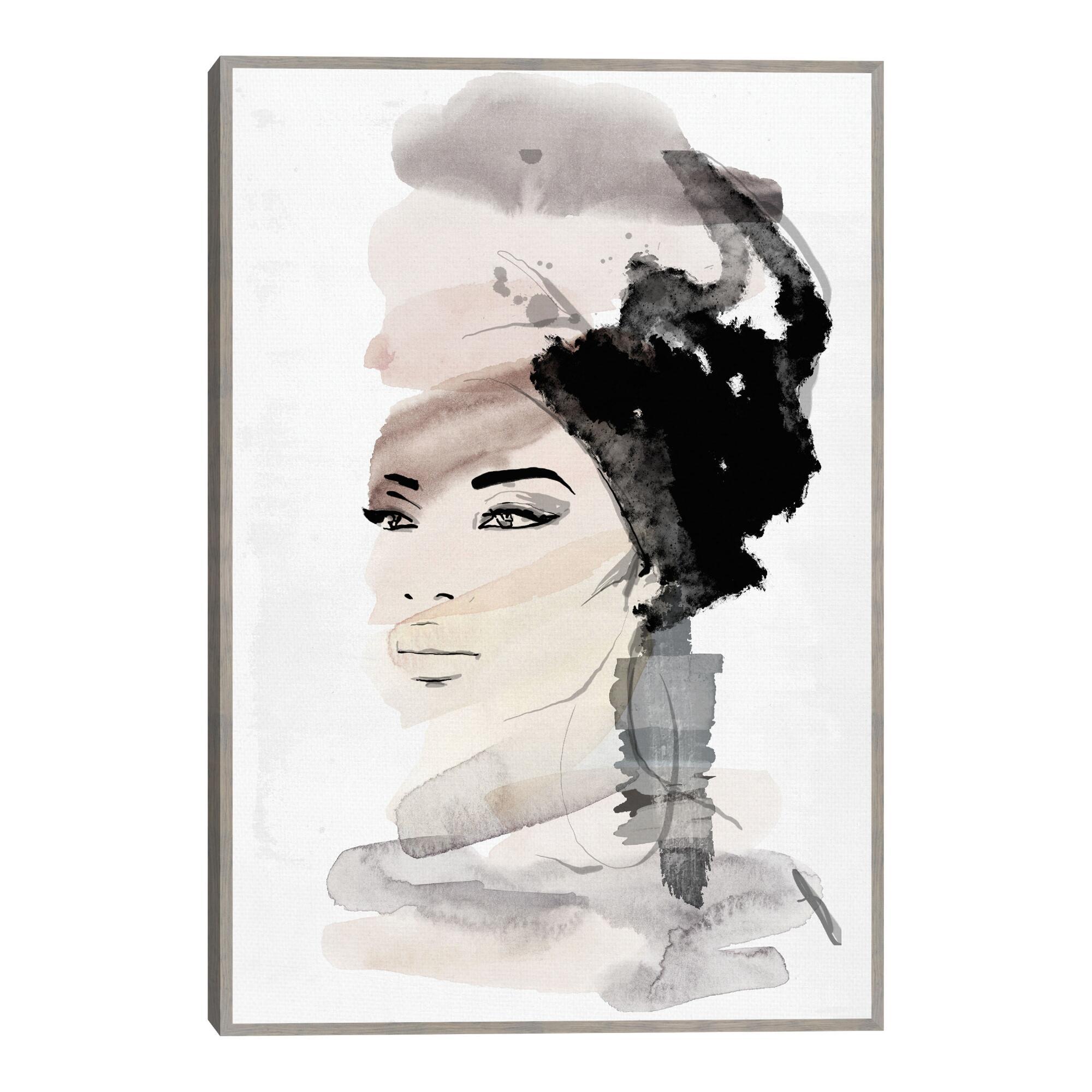 She Likes Water By Nikki Chu Framed Canvas Wall Art $99.99