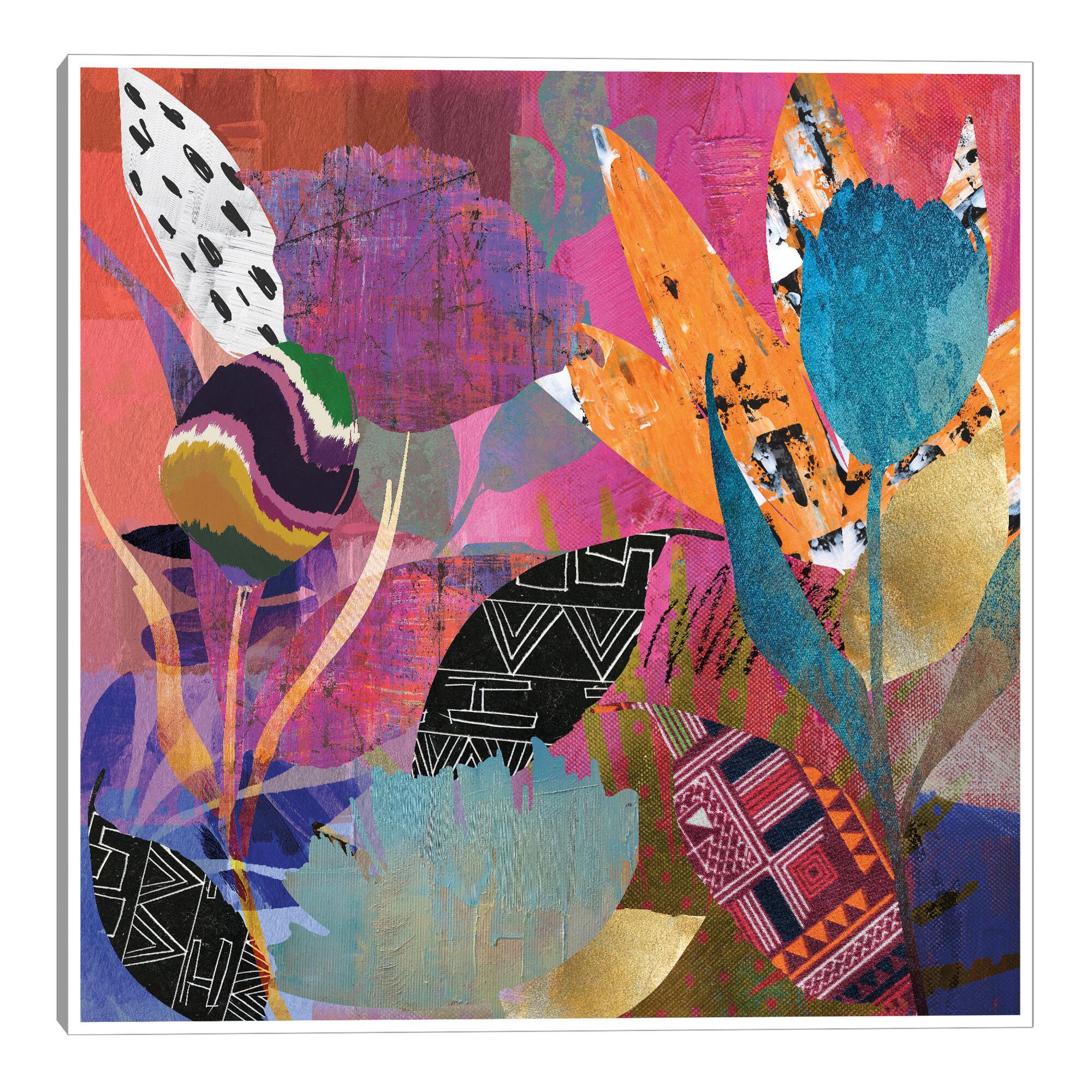 Flower Power By Nikki Chu Framed Canvas Wall Art $119.99