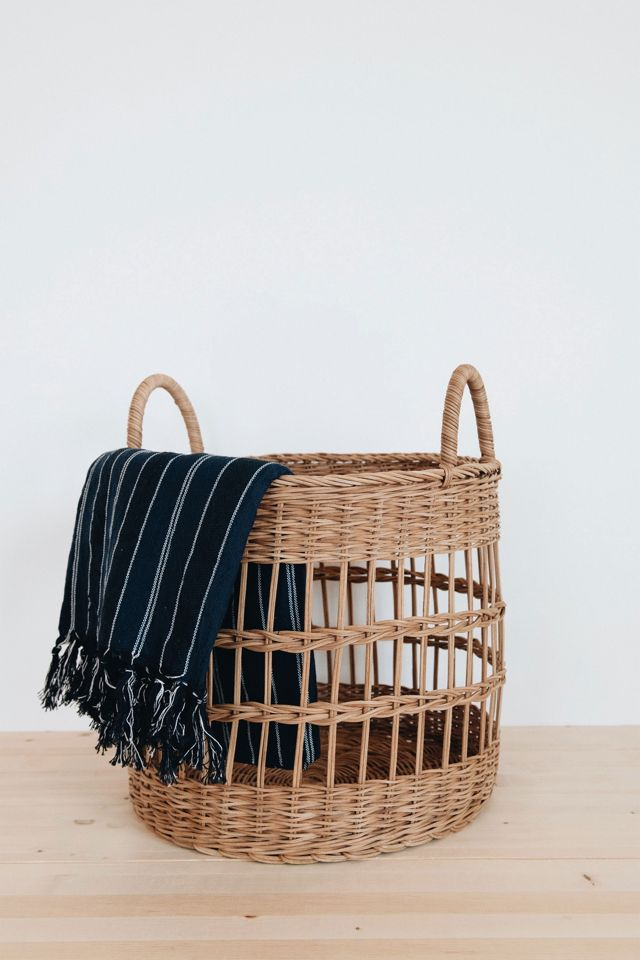 Connected Goods Libby Rattan Basket $59.00