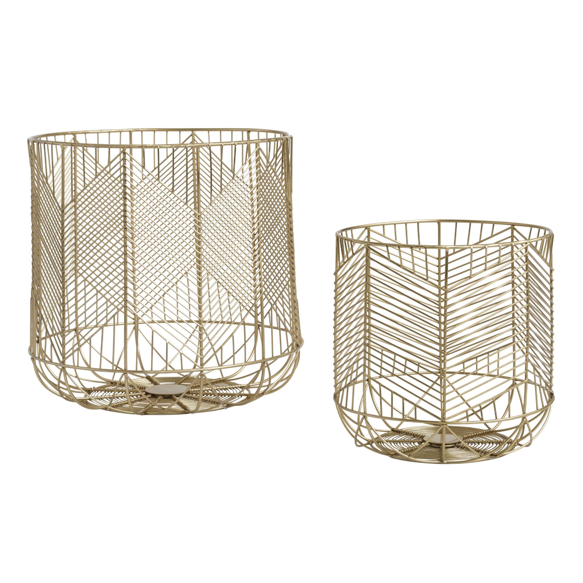 Gold Wire Geometric Reese Basket $29.99 - $39.99