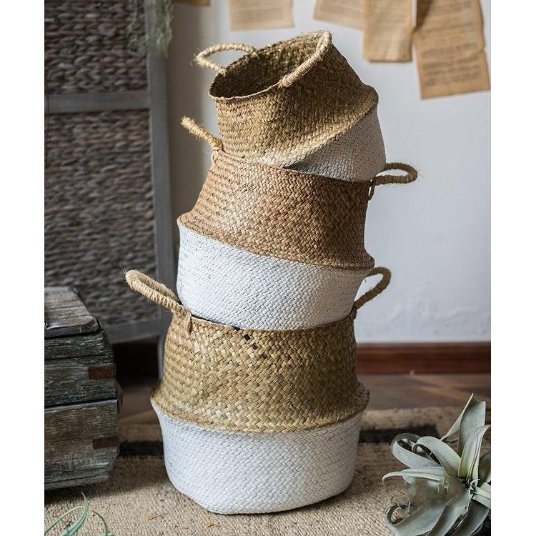 RusticReach Straw Basket Pop Up Belly Basket $26.75