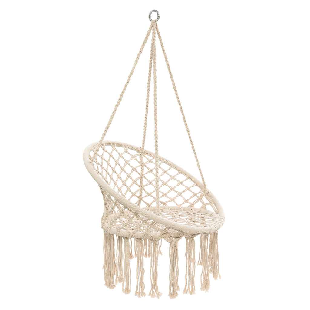 Knitted Hanging Cotton Rope Chair $58.88 https://fave.co/3d6W3Gc